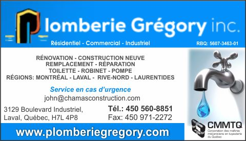 Plomberie Gregory inc.