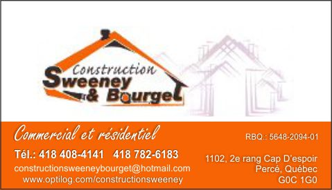 Construction Sweeney et Bourget