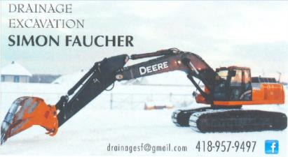 Drainage Excavation Simon Faucher